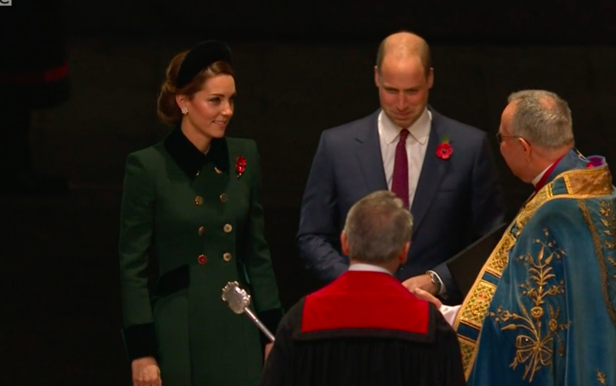 9d13bf4833 Duchess of Cambridge is an elegant figure in Catherine Walker at Abbey  armistice service