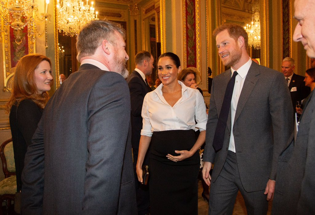 aa26d4592208 Duchess of Sussex in Givenchy shirt and skirt for Endeavour Fund Awards